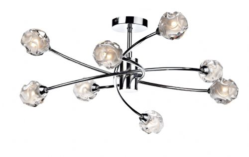 0.1) Seattle 8-light Polished Chrome Ceiling Light (Class 2 Double Insulated) BXSEA0850-17